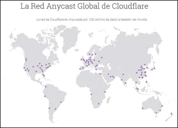 mappa server CDN Cloudflare